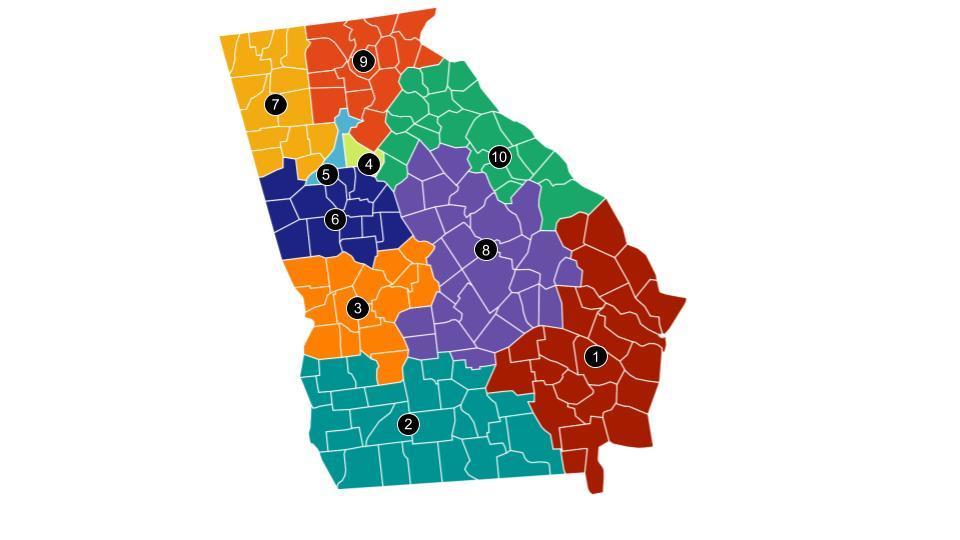 Map of Georgia Judicial Districts