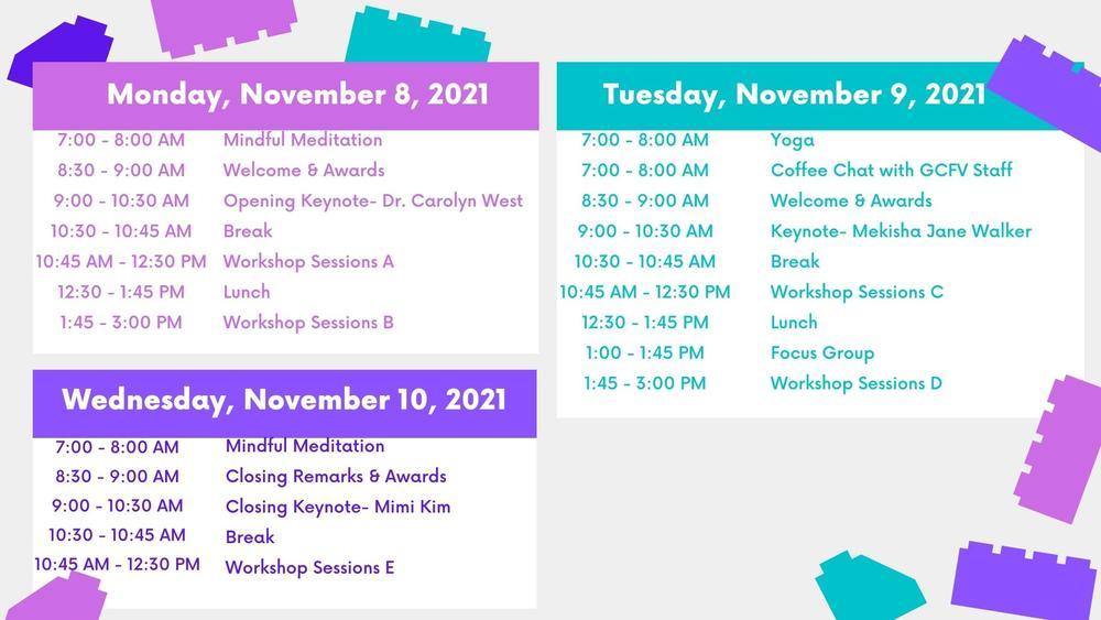 2021 Conference Agenda